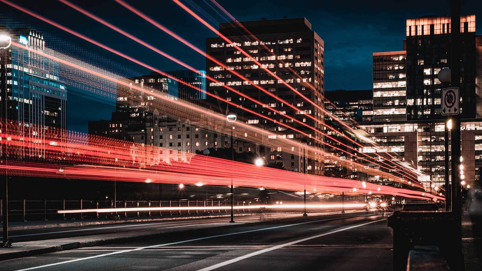Cars at night. Photo: Marc-Olivier Jodoin at Unsplash.