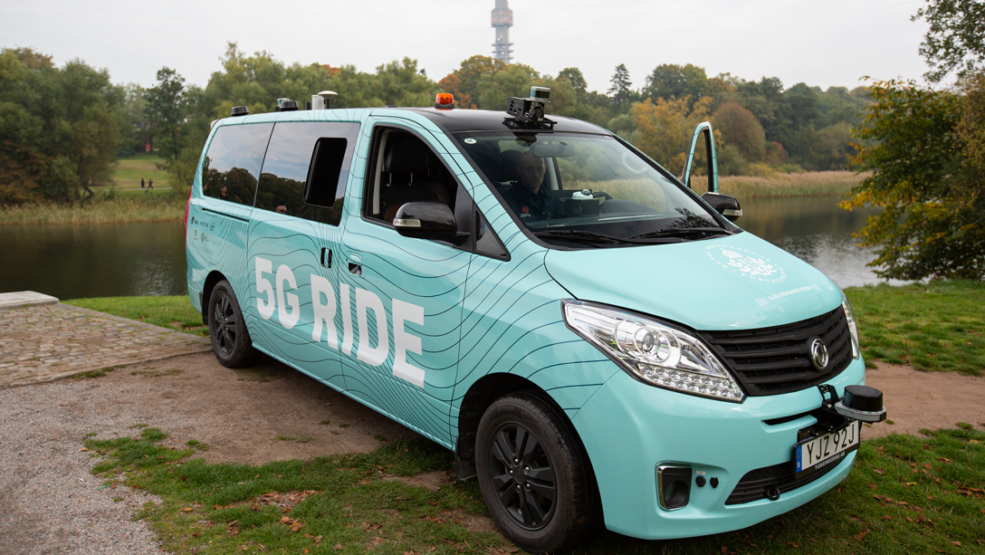The 5G Ride shuttle.